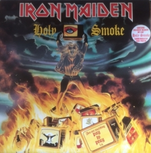 "Iron Maiden - Holy Smoke/ All In Your Mind/ Kill ME Ce Soir [EMI Records 12 EMP 153] 1990, UK issue, 3 track 12"" single, with very large unused poster"