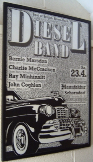 Diesel Band, The - Concert Poster, late 70's - Status Quo