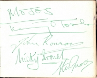 Mojos, The - signed album page, 60's