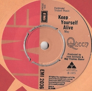 Queen - Keep Yourself Alive/ Son And Daughter, [EMI Records EMI 2036] original UK 1973, their first UK released single