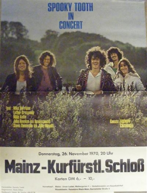 Spooky Tooth - Original German Concert Poster 1970
