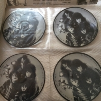 "Kiss - The Kiss Interviews [Baktabak Records BAKPAK 1002], UK issue, 4 x 7"" picture disc interview singles"