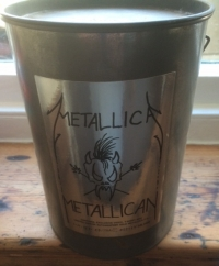 Metallica - Metallican [Vertigo MECAN 1- 510-022-0] 1991, UK issue, CD, gold disc in a metal 'paint can' with video, and T-Shirt, numbered 022718/ 35000, all unused