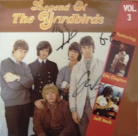 Yardbirds, The - signed ablum by Jimmy page, Eric Clapton & Jeff Beck 80's