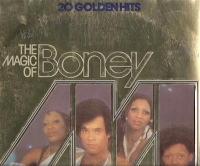 Boney M - 70's Disco Super Group, very rare fully signed album sleeve by the original line up