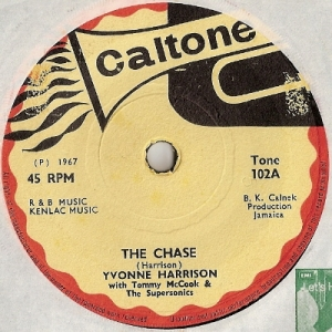 Harrison, Yvonne - The Chase/ Take My Hand, [Caltone Records 102] 1967, very rare single from this young lady, mid 60's rocksteady/ ska number