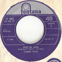 Flaming Youth - Guide Me, Orion/ From Now On [Immortal Invisible] [Fontana Records TF 1057], Mono, 1969, original UK release with company sleeve, Phil Collins band, before joining