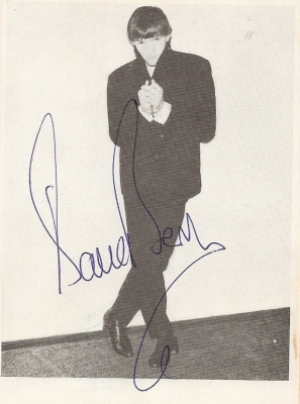 Berry, Dave - signed 60's promo card