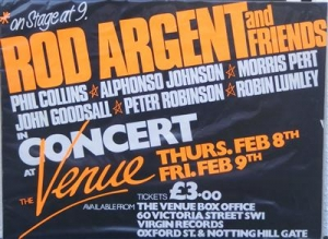Argent, Rod - & Friends inc. Phil Collins [Genesis] concert poster 1979