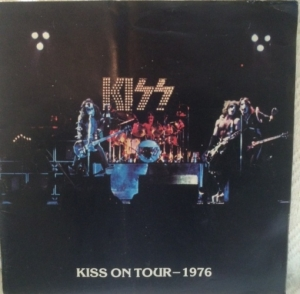 Kiss - original 1976 US/ European Tour Programme, with yellow merchandise sheet attached
