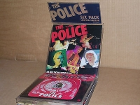 "Police, The ‎– Six Pack, [A&M Records ‎– AMPP 60016] 1980, 7"" singles, Limited Edition Blue vinyl, with picture sleeve and insert card, all housed in a PVC headed display wallet"