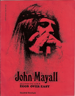 Mayall, John...1971, UK Tour program, with 'Eggs Over Easy' as the support