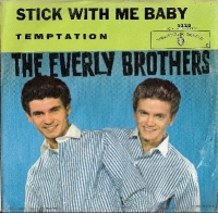 "Everly Brothers, The -Temptation/ Stick With Me Baby, original US 7"" single, release on Warner Bros. Records 5220 in 1961, c/w picture sleeve"