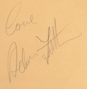 Faith, Adam - nice clear autograph, signed in the mid 60's, from an album page