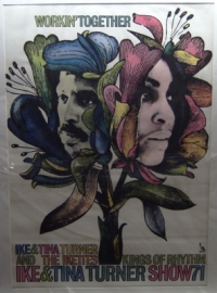 Turner, Ike and Tina - 1971 Concert Poster