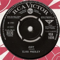 Presley, Elvis - Judy/ There's Always Me, Original very rare 1967 UK release on RCA Victor RCA 1628 on