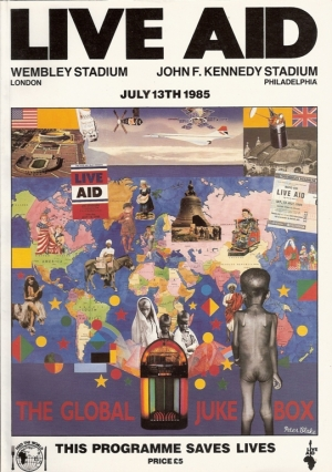 Various Artists...Live Aid...13th July 1985, UK Official program, artists inc. Bowie, McCartney, Quo, Queen, Elton, U2, The Who, plus
