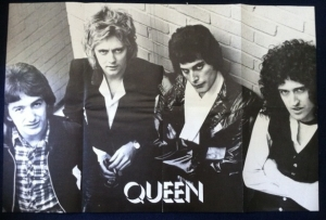 Queen - 70's promo B&W poster, unused and in NM condition, dates from around 1975