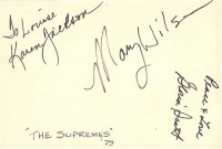 Wilson, Mary - [The Supremes] signed on piece of paper, from her 1979 solo career