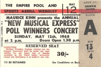 Rolling Stones, The - NME Poll Winners Concert Ticket, acts inc. Cream, The Herd, Status Quo, Amen Corner