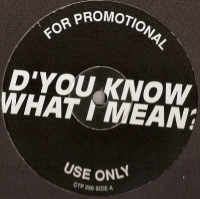 "Oasis - D'You Know What I Mean?/ Heroes, [Creation Records CTP 256] 1997, 12"" promo, mint/ unplayed"