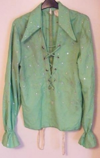 Jackson Tito, [The Jackson 5] - Stage worn top [green front lace up]