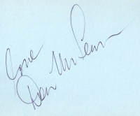 Mclean, Don - signed album page, 70's