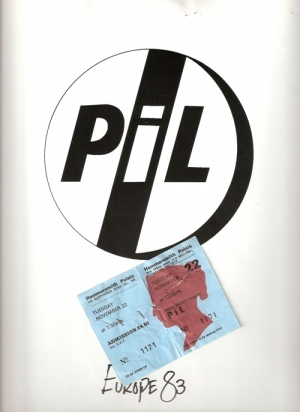 Public Image Limited [PIL] - Europe '83 Concert Programme and ticket