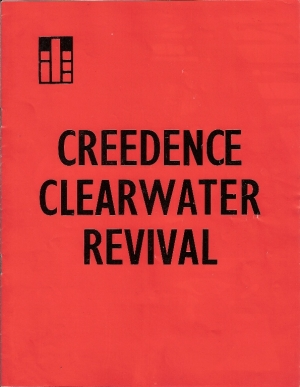 Creedence Clearwater Revival...April 1970, UK concert program from two dates at The Royal Albert Hall, London
