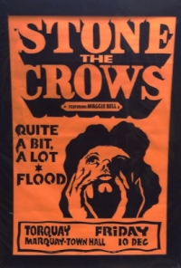 Stone The Crows [featuring Maggie Bell] - Original Concert Poster 1972