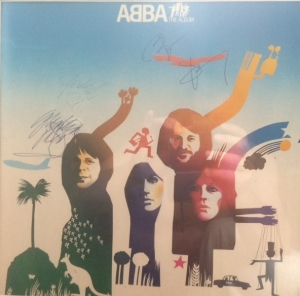 Abba - Fully signed album sleeve from Abba's 'The Album', signed in the UK, in the late 70's. Full set of all four [4] band members