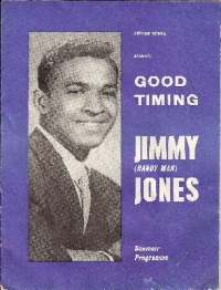 Jimmy [Handy Man] Jones, original October 1960 UK tour programme