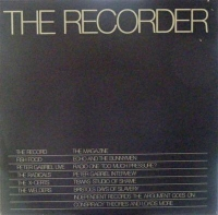 Various Artists - The Recorder #2, Bristol based magazine & record, this issue features live tracks from Peter Gabriel