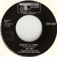 Who, The - See Me, Feel Me/ Overture To Tommy [Track Records 2094-004], 1970, Withdrawn issue, and with the same B side labels on both sides