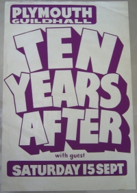 Ten Years After - 1973 Original Concert Poster
