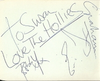 Hollies, The - part set only, [Graham Nash, Eric Haydock and Bobby Elliot] nice clear autographs signed mid 60's on an album page