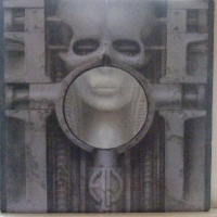 Emerson, Lake & Palmer - Brain Salad Surgery, original UK Manticore label, Manitcore K53501, foldout die-cut sleeve with poster, 1973