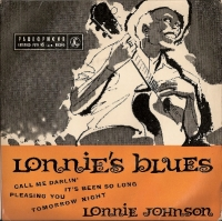 "Johnson, Lonnie - Lonnie's Blues, original UK 7"" EP release on Parlophone  Records GEP 8663 in 1957"