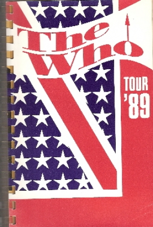 Who, The - North America Tour 1989, itinerary book, EX+ condition, from the estate of the late Mike Shaw, long time friend and work colleague of the band