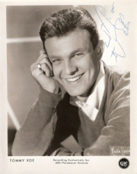 Roe, Tommy  and the Rob Charles Combo - signed promo photo 60's