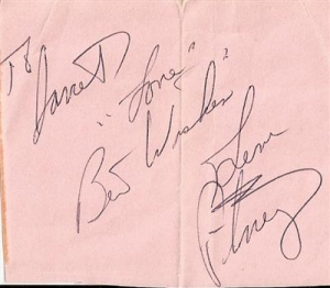 Pitney, Gene - Gene Pitney signed piece of paper from the 60's