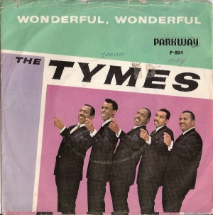 Tymes, The - Wonderful, Wonderful/ Come With Me [To The Sea] - [Parkway Records P-884] US 60's *picture sleeve only*