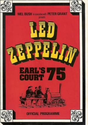 Led Zeppelin - 'Earl's Court '75', UK Concert Programme 1975 at Earl's Court Arena, London, c/w ticket stub and a three newspaper reviews