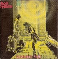 Iron Maiden- Running Free/ Burning Ambition [EMI Records EMI 5032] 1980, original UK first press. Classic Iron Maiden/ BWOBHM number
