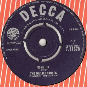 Rolling Stones, The - Come On/ I Want To Be Loved, [Decca Records F.11675] original UK 1963, their first UK single release