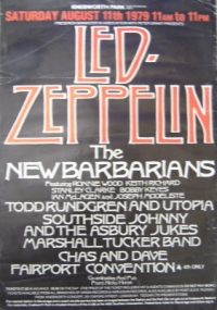 Led Zeppelin [Knebworth 1979 gig poster]