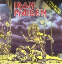 "Iron Maiden - Sanctuary/ Prowler/ Drifter/ I've Got The Fire [EMI Records 1A K 052Z] 1980, Ducth 4 track 12"" maxi single, with the 'Maggie Thatcher' rare uncensored sleeve"