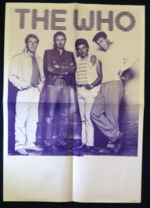 Who, The - 80's promo poster, unused and in NM condition