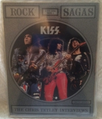 "Kiss - The Chris Tetley Interviews [Fotodisk Records CTD 2004A/B] 1988, UK issue, 7"" square picture disc interview singles"
