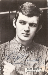 Cliff Bennett & The Rebel Rousers - signed 60's promo photo card